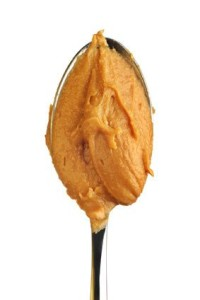 spoon full of peanut butter