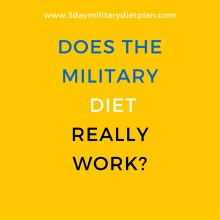 Does the Military Diet Really Work?