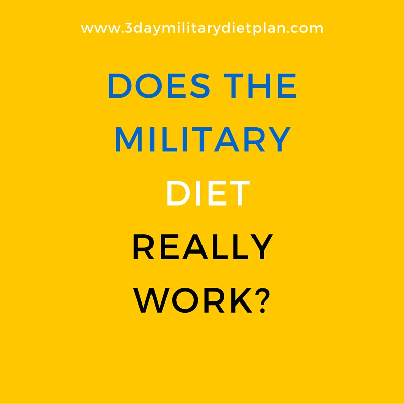 Does the Military Diet Work? | The 3 Day Military Diet