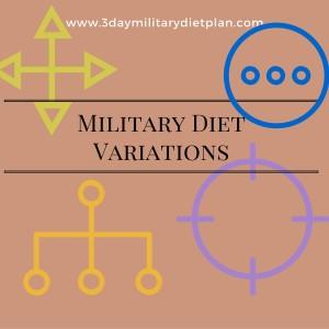 Military Diet Variations