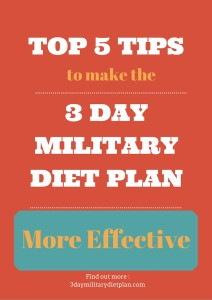 Top 5 tips to make the 3 Day Military Diet Plan More Effective