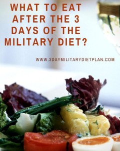 What to Eat After the 3 Day of the Military Diet